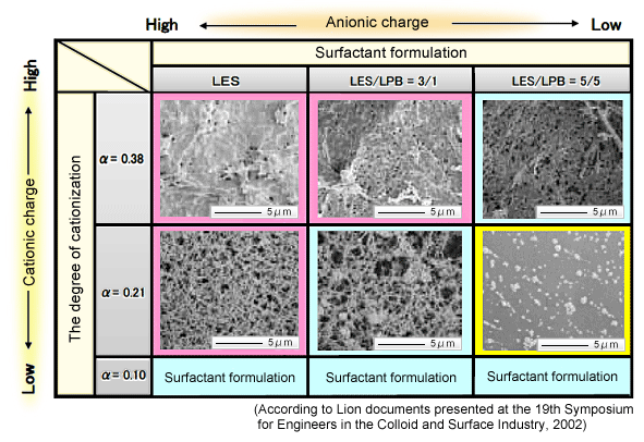 image:Observation of complex salt formations due to catonization of cellulose and type of surfactant (dried at the CO2 supercritical point)